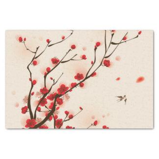 Papel De Seda Pintura asiática do estilo, flor da ameixa no