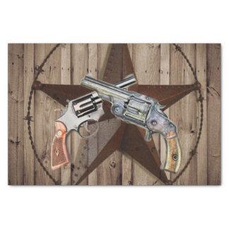 Papel De Seda pistolas rústicas do país ocidental do vaqueiro da