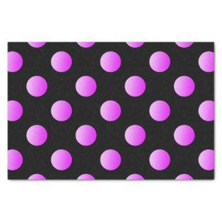 Papel De Seda Pontos cor-de-rosa no preto