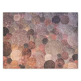 Papel De Seda Pontos do brilho e círculos luxuosos - Brown morno
