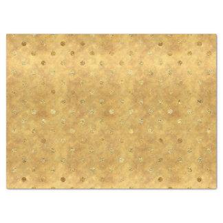 Papel De Seda Pontos do chique do ouro