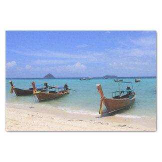 Papel De Seda Praia tropical