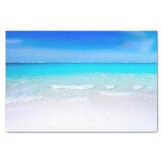Papel De Seda Praia tropical com um mar de turquesa