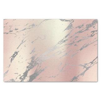Papel De Seda Prata metálica do ouro cinzento de mármore do rosa