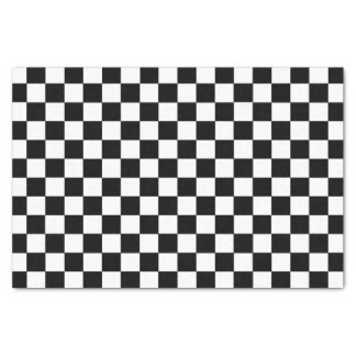 Papel De Seda Preto e branco Checkered
