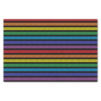 Papel De Seda Preto esboçado do arco-íris das listras