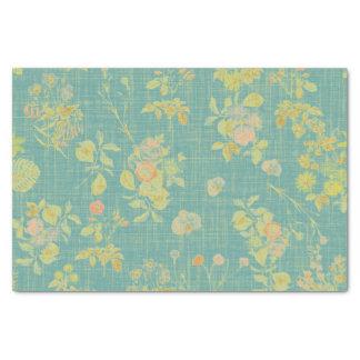 Papel De Seda Primavera do vintage floral