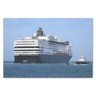 Papel De Seda Proa e Starboard que cruzam afastado