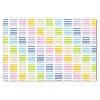 Papel De Seda Quadrados e listras Pastel do arco-íris