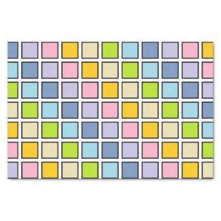 Papel De Seda Quadrados Pastel esboçados preto do arco-íris