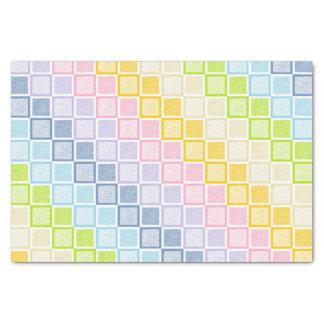 Papel De Seda Quadrados Pastel estáticos do arco-íris