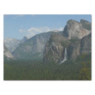 Papel De Seda Quedas de Bridalveil e meia abóbada em Yosemite