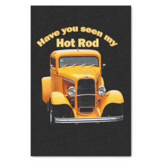 Papel De Seda Roadster idoso amarelo com as janelas dianteiras