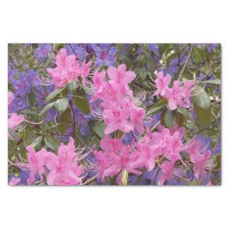 Papel De Seda Rododendros do primavera florais
