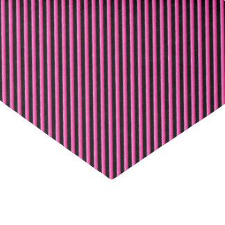 Papel De Seda Rosa quente e diagonal preta listrados
