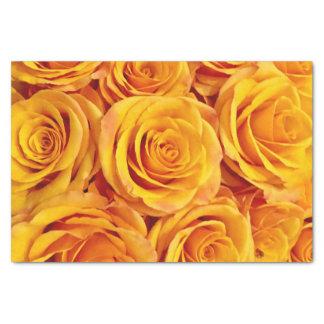 Papel De Seda Rosas amarelos impressionantes