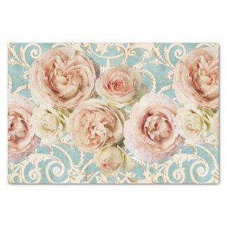 Papel De Seda Rosas da herança com damasco