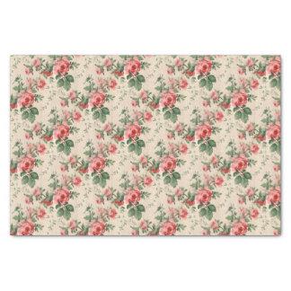 Papel De Seda Rosas florais do teste padrão do vintage