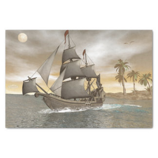 Papel De Seda Sair do navio de pirata - 3D rendem