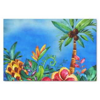 Papel De Seda Selva colorida exótica da flor - Aloha