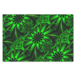 Papel De Seda Selva verde abstrata do Fractal