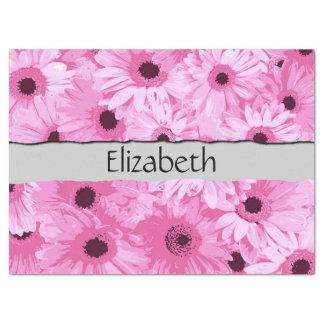Papel De Seda Seu nome - flores do Gerbera, flores - rosa