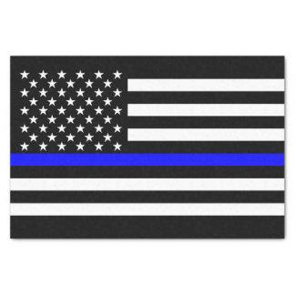 Papel De Seda Símbolo memorável fino de Blue Line da bandeira