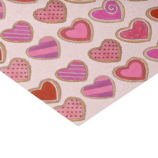 Papel De Seda Tecido cor-de-rosa do dia dos namorados do