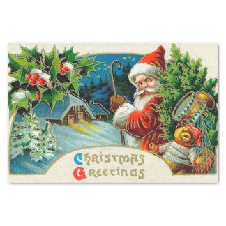 Papel De Seda Tecido da festa natalícia do papai noel do natal