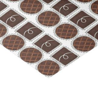 Papel De Seda Tecido de Chocoholic dos doces do dia dos