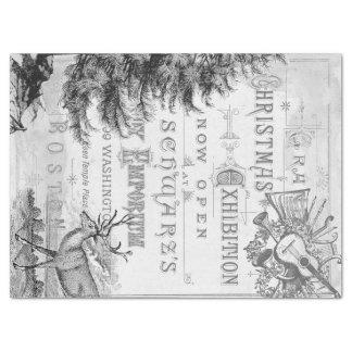 Papel De Seda Tecido de Decoupage das coisas efêmeras do Natal