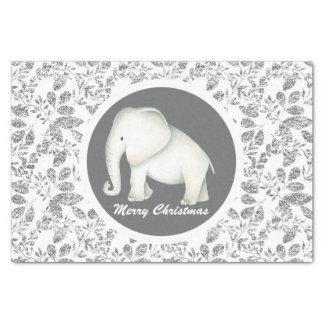 Papel De Seda Tecido de prata do partido do elefante branco do