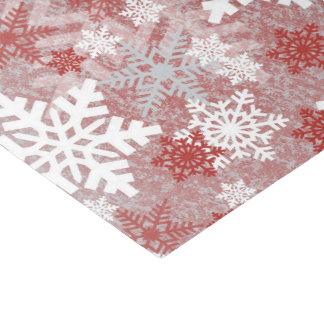 Papel De Seda Tecido festivo da festa natalícia do floco de neve