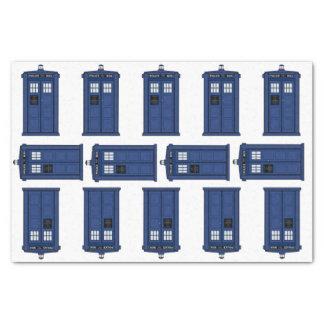 Papel De Seda Tempo & espaço, geek azul do presente da caixa de