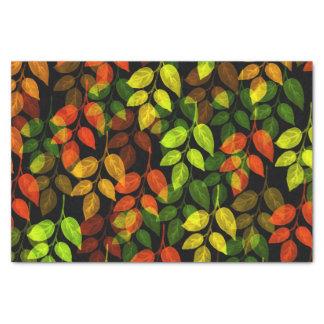 Papel De Seda Teste padrão abstrato da folha do outono