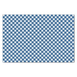 Papel De Seda Teste padrão azul chique do guingão do país
