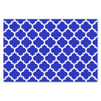 Papel De Seda Teste padrão branco #5 de Quatrefoil do marroquino