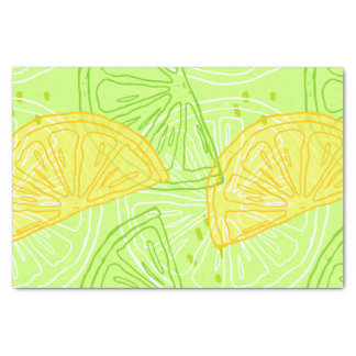 Papel De Seda Teste padrão brilhante dos limões do citrino do