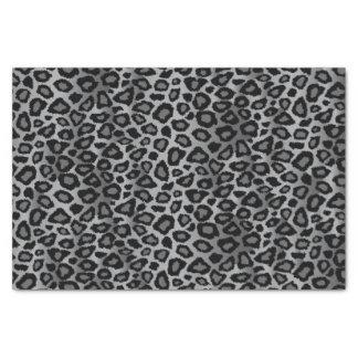 Papel De Seda Teste padrão cinzento do design do leopardo