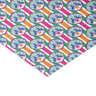 Papel De Seda Teste padrão colorido dos pôneis da mostra do