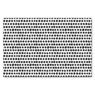 Papel De Seda Teste padrão de bolinhas corajoso preto e branco