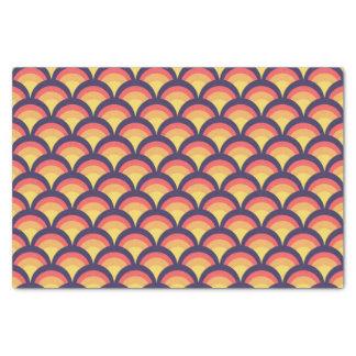 Papel De Seda Teste padrão de ondas geométrico colorido