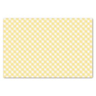 Papel De Seda Teste padrão diagonal amarelo do guingão