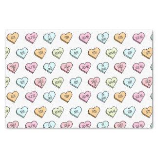 Papel De Seda Teste padrão do coração dos doces dos namorados