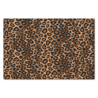 Papel De Seda Teste padrão do design do leopardo de Brown