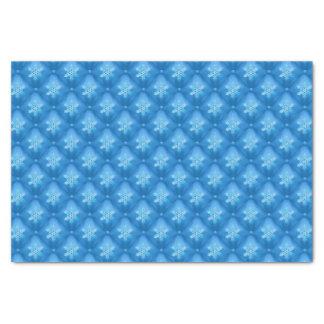 Papel De Seda Teste padrão do floco de neve do Natal dos azuis
