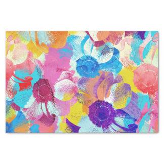 Papel De Seda Teste padrão floral colorido com flores da anêmona