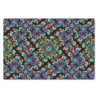 Papel De Seda Teste padrão floral colorido da colagem