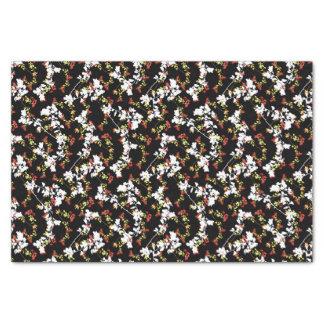 Papel De Seda Teste padrão floral da colagem do Chinoiserie