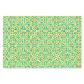 Papel De Seda Teste padrão geométrico verde